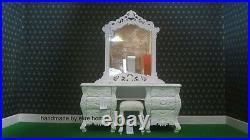 BEDROOM SET ANY SIZE SUPER KING Double White Black cream French ROCOCO bed