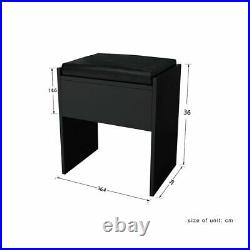 Black Corner Dressing Table Includes Stool & Mirror FREE DELIVERY