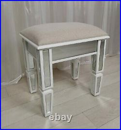 DRESSING STOOL Vanity STOOL CHELSEA Glass Mirrored Dressing Console STOOL Seat