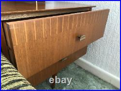 Dressing Table Desk Mid Century 1970s Vintage Retro WITH Stool