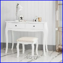 Dressing Table in White with Stool Dresser Camille