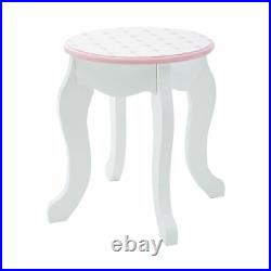 Fantasy Fields Kids Vanity Set Castle Table With Mirror & Stool White TD-12951A