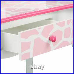 Fantasy Fields Kids Vanity Set Wooden Table With Mirror & Stool Pink TD-11670D