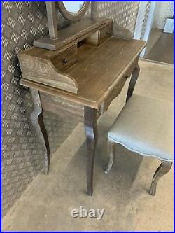 Feather & Black Sienna Weathered Oak Dressing Table, Stool & Mirror RRP£1074