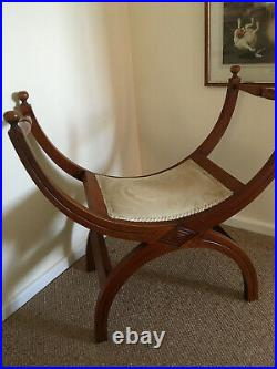 French Mahogany Vanity/ Dressing Table Stool with curved legs(North Norfolk)