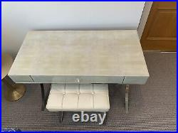 Graham and Green Shagreen Betsy Dressing Table And Stool
