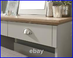 Kendal Dressing Table Mirror & Stool Country style Dresser furniture Grey & Oak