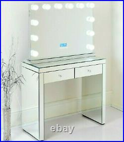 Mirrored Dressing Table Vanity Dresser Console Bedroom Stool Mirror Set Makeup