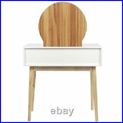 Modern Dressing Table Mirror Vanity Makeup Desk Stool Set with Stool and Mirror