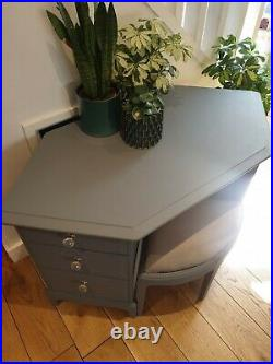 Rare Stag Corner Dressing Table Desk And Matching Stool