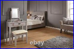 Shaker Dressing Table, Stool and Mirror Grey RRP 199.99