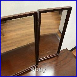 Stag Minstrel Dressing Table Desk with Drawers Three Way Mirrors and Stool