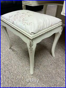 Vintage French Louis French Style Dressing Table With Stool
