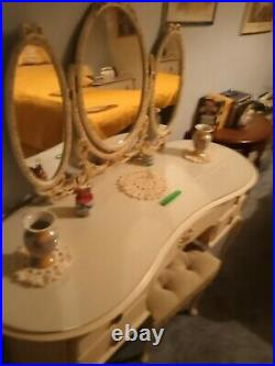 Vintage French style Dressing table Stool & Wardrobe