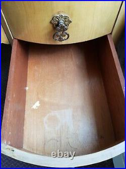 Vintage Kidney Shaped Dressing Table and Stool Preowned