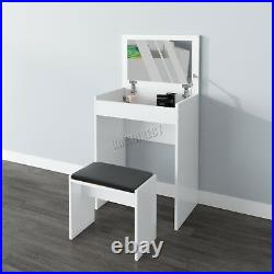 WestWood PB Dressing Table With Life UP Mirror And Faux Leather Stool Set DT09