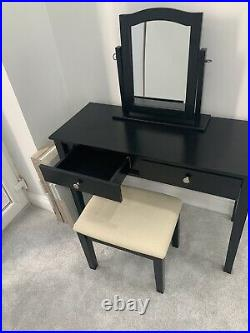 West Elm Vanity Dressing Table With Mirror And Stool